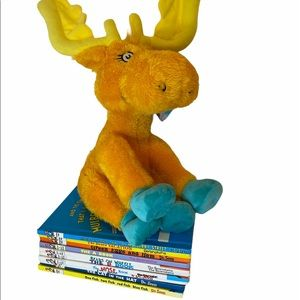 10 VTG Dr Seuss book lot + NWT Thidwick Plush